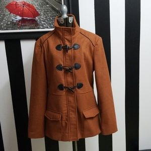 Rampage Medium Coat w/ faux leather accents!
